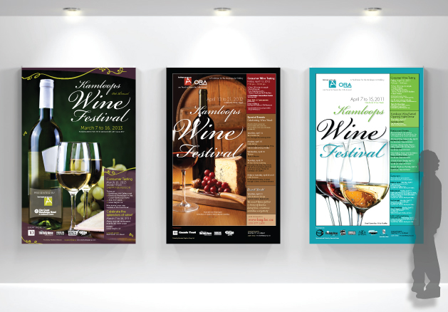 Kamloops Art Gallery - Wine Festival - Fundraiser Event Graphic Design